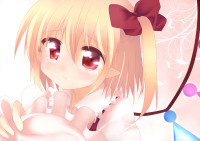 837462 - blonde_hair flandre_scarlet haiiro_(immature) hair_ribbon pointy_ears red_eyes ribbon side_ponytail solo tears touhou wings.jpg